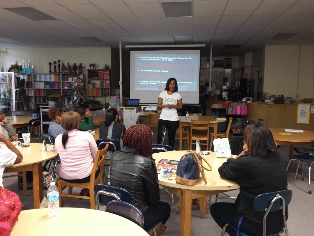 Motivational speaker and former teen mother Summer Owens speaks to teen mothers