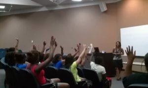 Summer Owens, motivational speaker with high school students