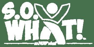 S.O. What! Logo White